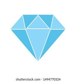 diamond icon. flat illustration of diamond - vector icon. diamond sign symbol