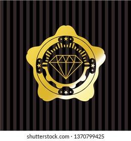 diamond icon inside gold badge