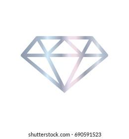 Diamond icon silver on a white background.