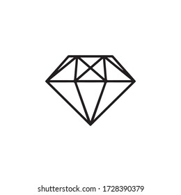 Diamond Icon In Trendy  Design Vector Eps 10