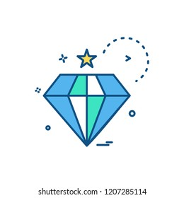 diamond icon vector design