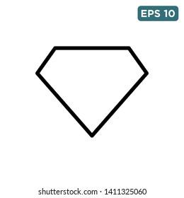 diamond icon vector design template
