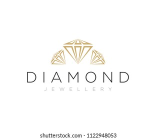 Diamond Jewellery Logo Design Vector Template