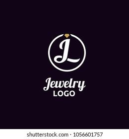 Diamond Jewelry / Initial JL logo design inspiration