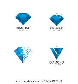 Diamond  jewelry Logo Template vector icon illustration design