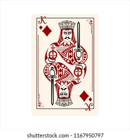 diamond king playing cards symbol poker tools game style red royal