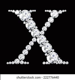 diamond letters with gemstones
