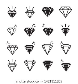 Diamond line icon  outline vector sign  linear style pictogram isolated on white. Gemstone symbol  logo illustration. Editable stroke. Pixel perfect