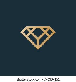 Diamond logo. Excellent jewelry logo
