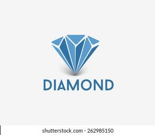Diamond logo isolated on white illustration.