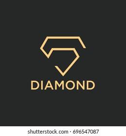 diamond logo vector template