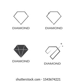 Diamond logo vector template illustration design