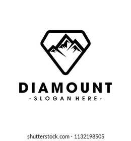 Diamond and Mountain Logo Design Inspiration Vector