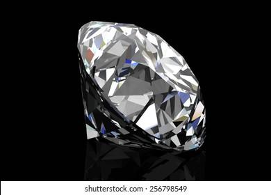 Diamond on black background .Vector illustration.