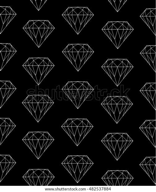 Diamond Pattern On Black Background Vector Stock Vector Royalty