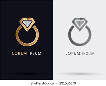 Diamond Ring abstract, logo vector.