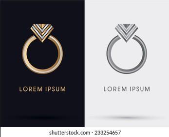 Diamond Ring abstract, logo, vector.