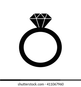 Diamond ring icon Illustration design