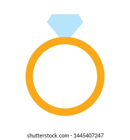 diamond ring icon. Logo element illustration. diamond ring symbol design. colored collection. diamond ring concept. Can be used in web and mobile