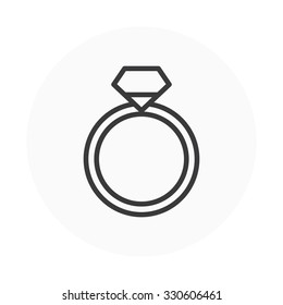 Diamond ring icon suitable for info graphics, websites and print media. Colorful Vector icon.
