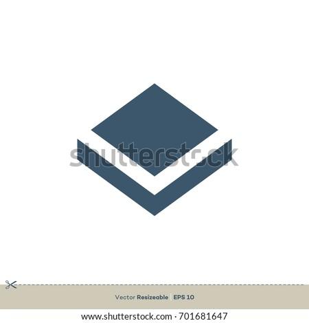 diamond shape box logo template stock vector royalty free