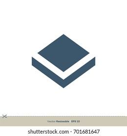 Diamond Shape Box Vector Logo Template Illustration Design. Vector EPS 10.