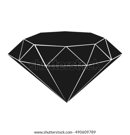diamond shape isolated stock vector royalty free 490609789