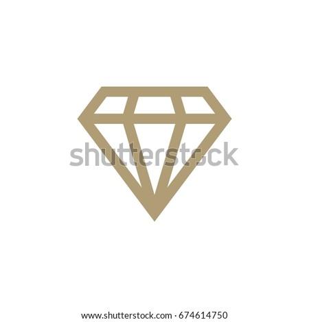 diamond shape logo template stock vector royalty free 674614750