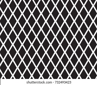 Diamond shape with mesh pattern.