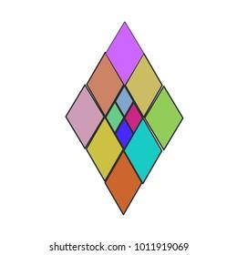 The diamond shape pattern. ( vector )