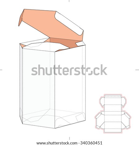 diamond shaped box die cut template stock vector royalty free