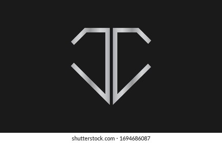 Diamond Shaped Letter C or Letter CC Iconic Logo Design, logo design for Jewelry Company Store.