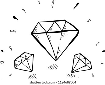 diamond shine hand drawn
