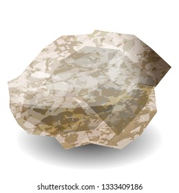 Diamond stone rough. Precious stone, gemstone, mineral. Translucent crystal. Texture of layers and facets of stone. Geology mining science jewelry