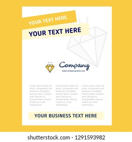 Diamond Title Page Design for Company profile ,annual report, presentations, leaflet, Brochure Vector Background