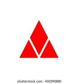 diamond triangle  logo vector