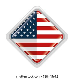 diamond with united states of america flag