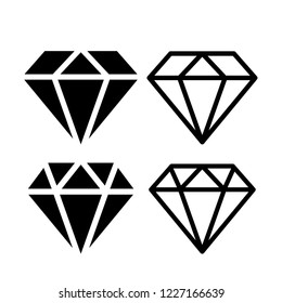 Diamond vector icon illustration isolated on white background