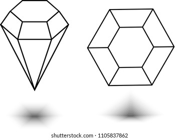Diamond. Vector illustration.