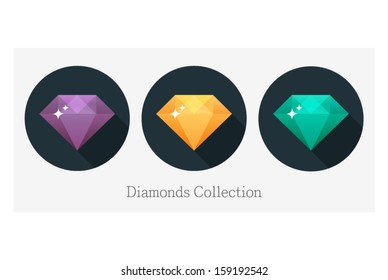 Diamond vector illustration in flat design