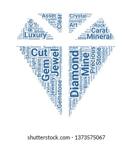 diamond word cloud. tag cloud about diamond