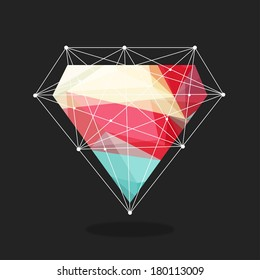 diamonds are a girl's best friend, illustration vector format