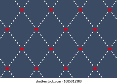 Diamonds motif cute baby pattern traditional argyle geometric ornament. Minimalist background simple geo all over print block for kids fashion textile, towel, shirt fabric, interior wallpaper, cards.