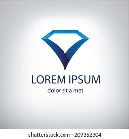 Diamonds symbol for your design. Vector illustration. Company logo design.