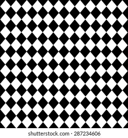 diamond-shaped Leather texture pattern vector on black white background