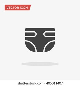 Diaper Icon in trendy flat style isolated on grey background. Nappy symbol for your web design, logo, UI. Vector illustration, EPS10.