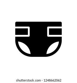 Diaper icon, vector illustration. Flat design style. vector diaper icon illustration isolated on white background, diaper icon Eps10. diaper icons graphic design vector symbols.