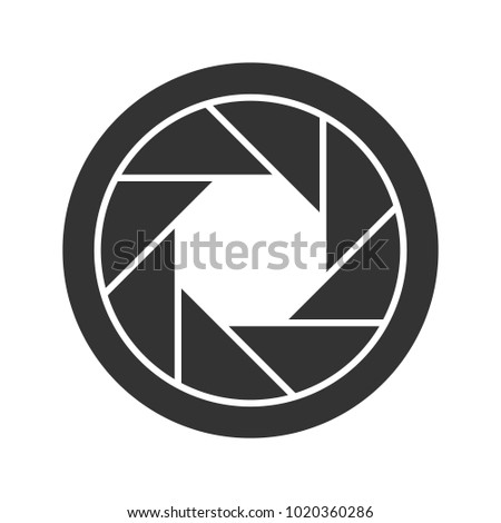 1d74076691f Diaphragm glyph icon. Shutter. Silhouette symbol. Negative space. Vector  isolated illustration