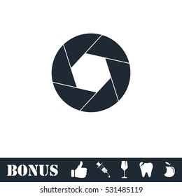 Diaphragm icon flat. Vector illustration symbol and bonus pictogram