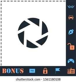 Diaphragm. Perfect icon with bonus simple icons